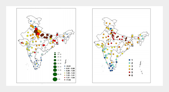 18-Year Ambient PM2.5 Exposure and Night Light Trends in Indian Cities: Vulnerability Assessment