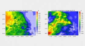 Relieved Air Pollution Enhanced Urban Heat Island Intensity in the Yangtze River Delta, China
